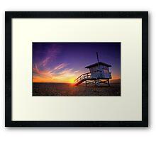 Santa Monica Sunset #1 Framed Print