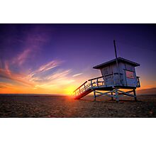 Santa Monica Sunset #1 Photographic Print