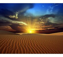 Sandy desert Photographic Print