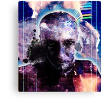 selfportrait with my creation muse v4 Canvas Print