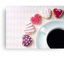heart cookies.. Canvas Print