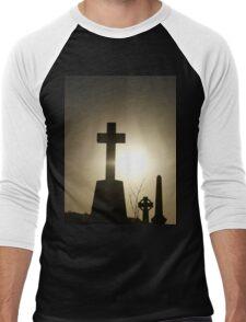 Silhouette Cross Men's Baseball ¾ T-Shirt
