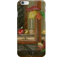 Blowing Leaves Painting iPhone Case/Skin