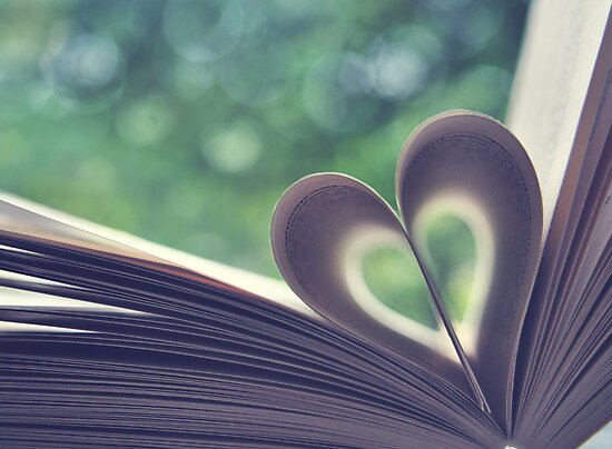 book heart and bokeh! by Michelle McMahon