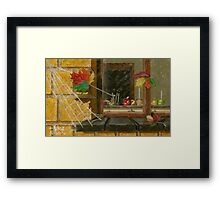 Blowing Leaves Painting Framed Print