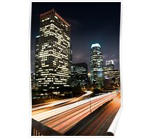Downtown Los Angeles Freeway Poster