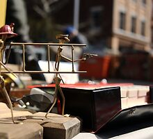 Fire brigade figurines gots a situation by contradirony