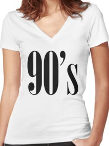 90s Women's Fitted V-Neck T-Shirt
