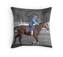 Future Racehorse Throw Pillow