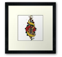 Guitare and Rose Framed Print