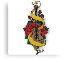 Guitare and Rose Canvas Print