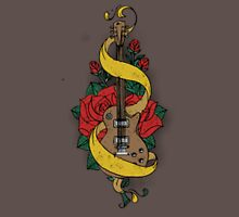 Guitare and Rose Unisex T-Shirt