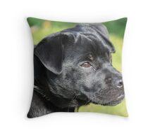 puggy pup Throw Pillow