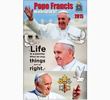 Pope Francis 2015 Wash DC Visit-3 image block portrait Unisex T-Shirt