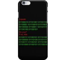 Speak binary? iPhone Case/Skin