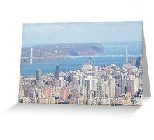 George Washington Bridge, Hudson River Greeting Card