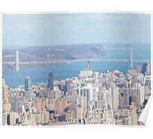 George Washington Bridge, Hudson River Poster