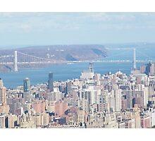 George Washington Bridge, Hudson River Photographic Print