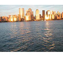 Hudson River Sunset, Lower Manhattan Photographic Print