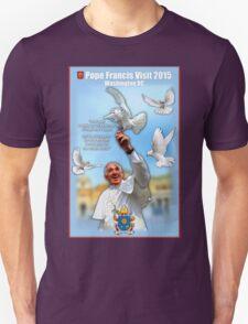 Pope Francis 2015 Wash DC Visit-doves background Unisex T-Shirt
