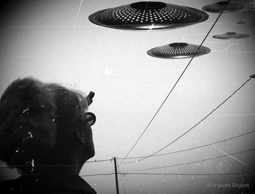 Invasion Force 2011 B&W Version by Margaret Bryant