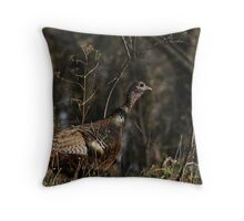 Female Wild Turkey Throw Pillow