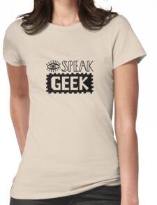 I Speak Geek Womens Fitted T-Shirt