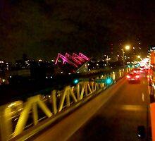 On a double decker bus crossing the Manhattan Bridge, NY by RonnieGinnever