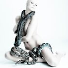 Nude girl with snakes by henrikn
