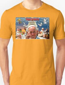 Pope Francis 2015 Wash DC Visit-Capitol building background T-Shirt