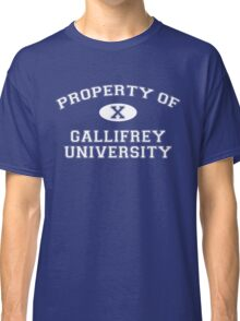 Property of Gallifrey University - 10th Doctor Classic T-Shirt