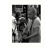 Busking in Pitt Street Mall Art Print