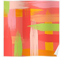 Abstract Grapefruit Poster