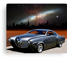 "1950 Studebaker, ""The Dark City Cruiser"" Canvas Print"