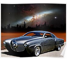 "1950 Studebaker, ""The Dark City Cruiser"" Poster"