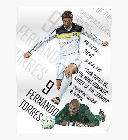 Fernando Torres - Chelsea v Barca - Champions League 2012 Poster