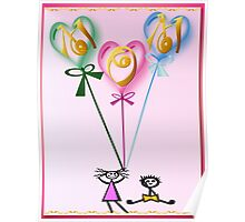 Mom Hearts n Kids Poster