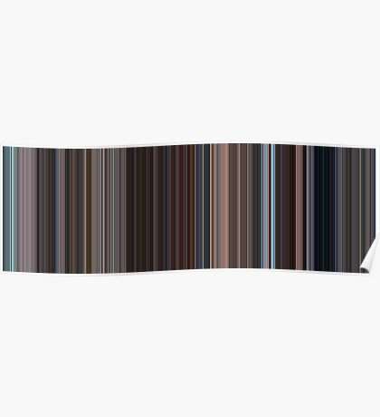 Moviebarcode: Eternal Sunshine of the Spotless Mind (2004) [Simplified Colors] Poster