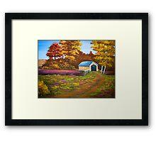 Covered Bridge in Acrylic Framed Print
