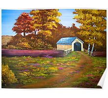 Covered Bridge in Acrylic Poster