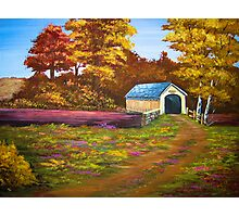 Covered Bridge in Acrylic Photographic Print