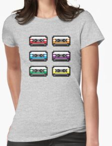 PIXEL CASSETTES  Womens Fitted T-Shirt