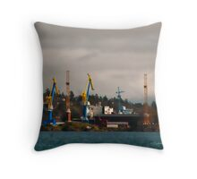 Esquimalt Royal Navy Dockyard Throw Pillow