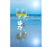 Two glasses of white wine Photographic Print