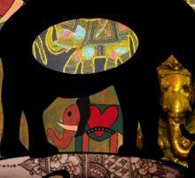 Images of Elephants Tee Sticker