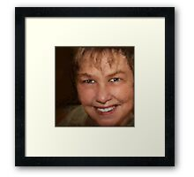 Our Scribbled friend... AuntDot! Framed Print
