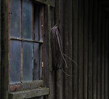 Old Barn Window and Rope by Daphne Eze
