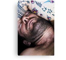 Jeff Sleeping Canvas Print