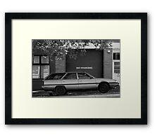 No Parking - Launceston, Tasmania Framed Print