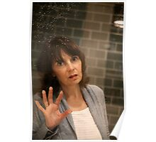 Refections through water and glass Poster